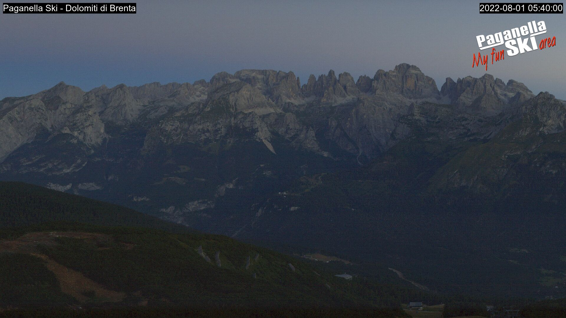 View to the Dolomiti di Brenta